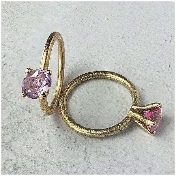 Elegant cocktail ring med turmalin