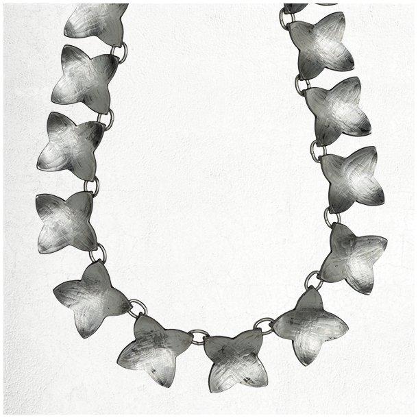 Stjerneblomst sølv halskæde