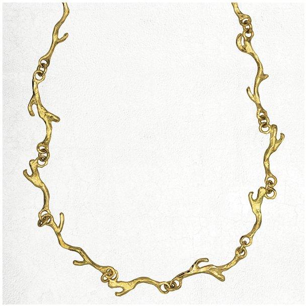 Halskæde af guld grene