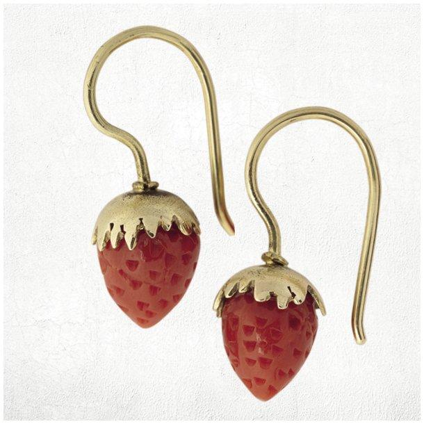 Koral jordbær ørering